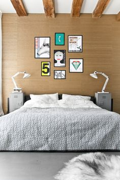 HKliving quilt, art, nightstands and lamps