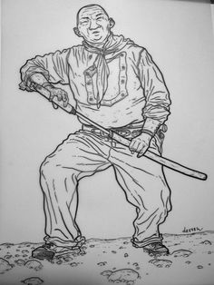 "I MIEI SOGNI D'ANARCHIA - Calabria Anarchica: Darrow - Illustration for ""Shaolin Cowboy"" 2 Arti..."