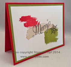 StampinTX: Christmas Card Ideas using Work of Art Set