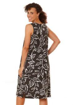 Dreams & Co. Plus Size Short Knit Lounger By Dreams & Co Black Print,2X DREAMS. $15.99