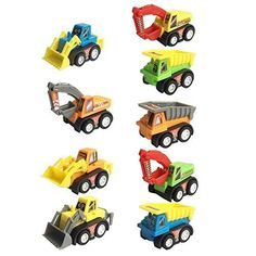 Voiture Miniature Mini Véhicules de Construction Camion Jouet Garcon Fille 3 ans 9 Pièces: Price:23.98Ces sont des véhicules à friction. Un…