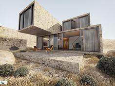 DESERT HOUSE by taner candan, via Behance