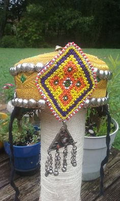 Tribal fusion burner hat by ForgottenPast on Etsy