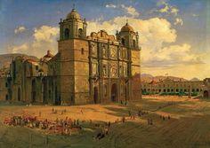 José María Velasco (1840-1912) Catedral de Oaxaca, 1887 Óleo sobre tela, 46 x 62 cm