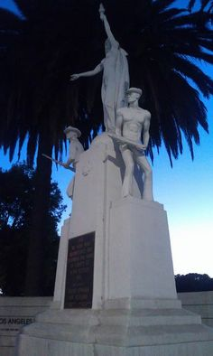 Los Angeles National Cemetery (950 S Sepulveda). This statue is on the ...