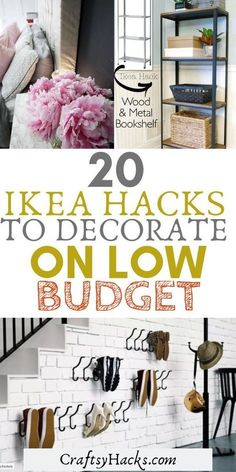 Try these IKEA hacks at home. These IKEA decor ideas are cheap, you can DIY them and get some design inspiration. Try these IKEA hacks at home. These IKEA decor ideas are cheap, you can DIY them and get some design inspiration. Home Decor Hacks, Home Hacks, Cheap Home Decor, Decor Ideas, Bed Ideas, Gift Ideas, Decoration Ikea, Ikea Decor, Wall Decor