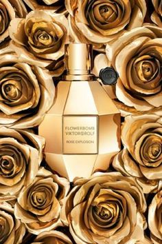 Flowerbomb Rose Explosion Viktor&Rolf perfume - a fragrance for women 2013 Fragrance Parfum, New Fragrances, Flowerbomb Perfume, Anuncio Perfume, Foto Still, Victor And Rolf, Flower Bomb, Shades Of Gold, Best Perfume