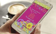 Convite Digital paz e amor  Envio E-mail e Whatsapp    Texto Livre