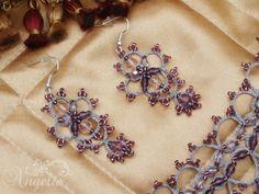 Tatted Jewelry Set - Anastasia I.. $122.00, via Etsy.