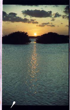 Atardecer en Cancún 1993