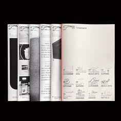 Revue Tintamarre is a free publication showcasing the work of one student every month Layout Design, Print Layout, Type Design, Print Design, Typographic Design, Graphic Design Typography, Editorial Layout, Editorial Design, Book Presentation