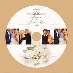 15 Beautiful Wedding CD/DVD Cover Templates