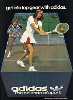 Vintage Ad #1,339: Get Into Top Gear with Adidas   Tennis, Olympics, Olympic Games, Olimpiadi, Vintage