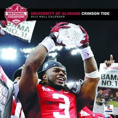 Alabama Crimson Tide Wall Calendar: The 2013 Alabama Crimson Tide wall calendar is the perfect tribute to your favorite college team. Each monthly page displays a high-quality, fan-pleasing image that will have everyone in your home or work area hailing the Crimson Tide all year long!  $15.99  http://calendars.com/Alabama-Crimson-Tide/Alabama-Crimson-Tide-2013-Wall-Calendar/prod201300001178/?categoryId=cat00572=cat00572#