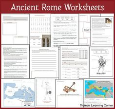 16-page Ancient Rome Worksheet Packet for 1st-3rd Graders: includes map work, fill-in-the-blank, word search, brainstorming ideas, and more