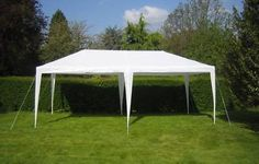 New White 10 x 20 PE Outdoor Canopy Gazebo Party Tent | eBay