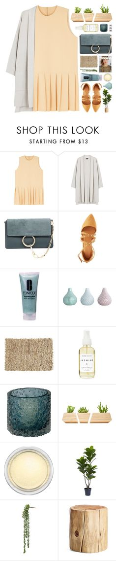 """Safety"" by fee4fashion ❤ liked on Polyvore featuring Eileen Fisher, Chloé, Charlotte Russe, Clinique, Pier 1 Imports, Herbivore, Lazy Susan, Dot & Bo, MAC Cosmetics and West Elm"