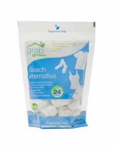 Grabgreen Bleach Alternative, 24 Count (Pack of 2) by GrabGreen. $11.98. Bleach Alternative brightens whites and removes stains. Also safe for colors. Amazing in the wash or as a pre-treater. Removes grass, grease, dirt and many more stains.. Save 35%!