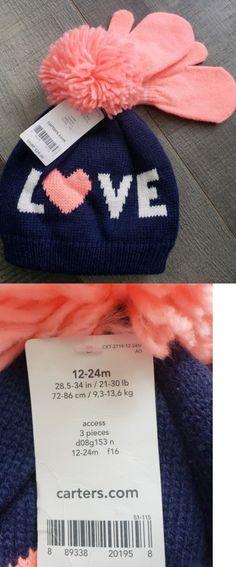 b88d24dea89 Baby Accessories 163222  Nwt Carter S Girls Hat And Mitten Set Sz 12-24