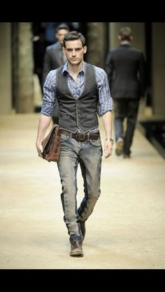 "I am obsessed with this look! I dont know why but I am! The jeans, vest, shirt, belt, watch, shoes and bag all compliments each other saying ""Hey! You're a bad ass!""."