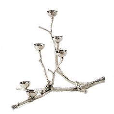 Twiggy lysestage med egern // Twiggy Candleholder with squirrels Twiggy, Candles And Candleholders, Candlesticks, Eclectic Candles, Chandeliers, Filigranes Design, Brand Design, Vase Centerpieces, Chrome Plating