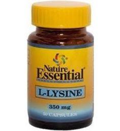 50 cápsulas de L-Lisina 350mg. Aminoácido, ligamentos, cartílago, dientes y huesos. La L-Lisina es un aminoácido esencial que nuestro cuerpo no produce y por lo tanto lo obtiene de la dieta diaria. La L-Lisina colabora en el crecimiento de niños y jóvenes ya que puede incrementar, junto al aminoácido Arginina, la producción de la hormona de crecimiento.