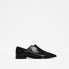 ZARA - WOMAN - POINTED FLAT STRETCH LEATHER SHOES