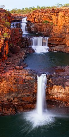 The vast expanse of Mitchell Falls meant that most of my shots were in landscape format, or wide panoramas trying to capture the rocks and the whole scene. But one of my friends asked for some vert… All Nature, Amazing Nature, Australia Travel, Western Australia, Australia Visa, Sydney Australia, Travel Photography Inspiration, Travel Inspiration, Mitchell Falls