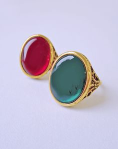 Beatrice Vintage Glass Ring — Eclectic Eccentricity Vintage Jewellery