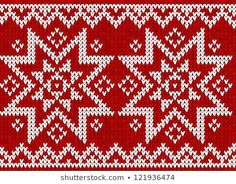 Imágenes similares, fotos y vectores de stock sobre scandinavian style knitted pattern; 233846749 | Shutterstock Knitting Charts, Knitting Patterns, Scandinavian Style, Swatch, East Of The Sun, Norwegian Style, Retro, Textiles, Stars