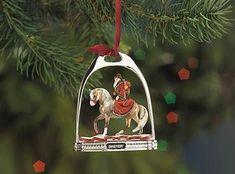 "Brass  HORSE /& CARRIAGE Western Christmas Ornament NIB 2.75/""L"