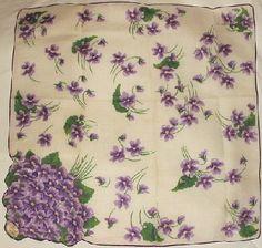 Vintage Violets Hanky by ingemnuity, via Flickr