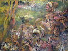 """Saatchi Art Artist Manlio Rondoni; Painting, """"La tribù dei fiumi che ballano 2010"""" #art"""