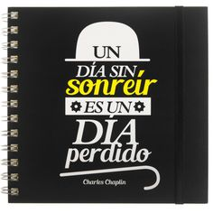 Cuaderno con frase original - Chaplin Notebook, Creative Products, Original Quotes, Store, The Notebook, Exercise Book, Notebooks