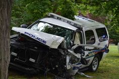 Muttontown officer injured, patrol car destroyed while chasing speeder Police Cars, Police Vehicles, Emergency Vehicles, Car Crash, Mexico City, Law Enforcement, Cops, Classic Cars, Boss Man