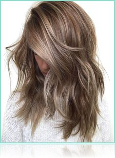 medium brown hair, layered and messy, falling over a young girl's face and hiding it, with ash blonde highlights Brown Hair With Blonde Highlights, Brown Hair Balayage, Brown To Blonde, Medium Ash Blonde Hair, Balayage Ombre, Blonde Ombre, Brown Hair Medium Length, Brown Highlighted Hair, Brown Ombre Hair Medium