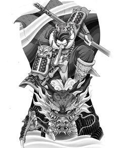 Dragon Tattoo Leg, Dragon Tattoo Designs, Japanese Snake Tattoo, Japanese Tattoo Designs, King Tattoos, Warrior Tattoos, Samurai Tattoo Sleeve, Sleeve Tattoos, Back Piece Tattoo