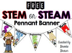 This FREE pennant banner is perfect to display in your classroom to support STEM or STEAM instruction!  Print pennants on cardstock, cut out, and/or laminate for durability.  Tape and string together pennants using yarn or string.If you appreciate this download, please take a moment to rate me and follow my store!Thank you!*******CHECK OUT MY OTHER STEM PRODUCTS!******STEM Teaching Tools for Elementary Students STEM Family Projects for Elementary Students STEM & STEAM Poster Sets