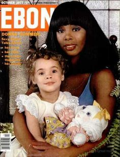 Donna Summer with her daughter on the cover of Ebony magazine, October 1977.