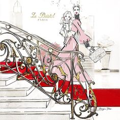 Ohhhh.... to be in Paris for Mothers Day! This is my illustration for the chicest hotel in Paris @lebristolparis I'm so proud to be their 'Artist in Residence' and it's my home away from home in the City of Lights! #artistinresidence