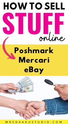 Want to earn extra money from home? Here's how to get started selling on Poshmark, Mercari and eBay and trade your old clothes or other junk items in for cash! Work From Home Tips, Make Money From Home, Way To Make Money, Make Money Online, Earn Extra Cash, Extra Money, Free Money Now, Student Jobs, Part Time Jobs