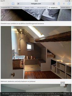 une salle de bain avec une douche sous combles | Deco | Pinterest ...