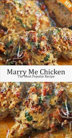Marry Me Chicken, the foremost popular recipe - Health care - Chicken Dinner Recipes Marry Me Chicken Recipe, Recipe Chicken, Healthy Crockpot Chicken Recipes, Stuffed Chicken Recipes, Great Chicken Recipes, Garlic Chicken Recipes, Rosemary Chicken, Butter Chicken, Garlic Butter
