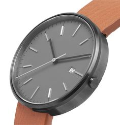 Uniform Wares Precidrive Stainless Steel And Leather Watch In Gray Uniform Wares, Mr Porter, Gray, Stainless Steel Case, Fashion Watches, Tan Leather, Men, Accessories, Guys