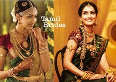Tamil Brides from the state of Tamil Nadu, India.