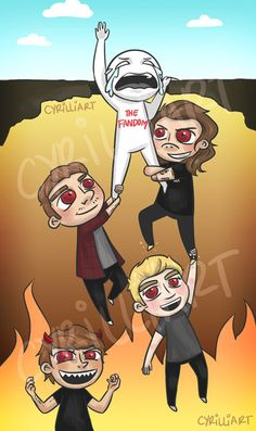DRAG ME DOWN MORE LIKE DRAG ME DOWN TO HELL (credit: Cyrilliart)