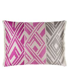 Valbonella Fuchsia Cushion - Bring colour to your space with this striking geometric patterned cushion.