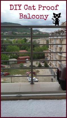 DIY Cat Proof Balcony #catproof #catproofbalcony #catproofapartment