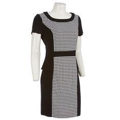 Houndstooth Dress Petite 254364572 | Dresses | Women | Burlington Coat Factory