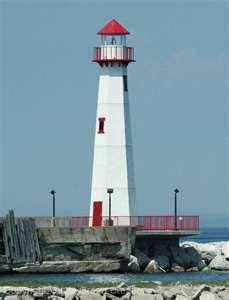 St. Ignace Wawatom Light. Lake Huron